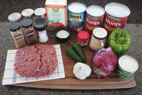 Pumpkin Chili Ingredients