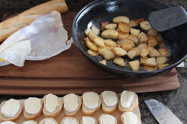 Mini Brie Grilled Cheese Sandwiches