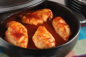 Baked BBQ Buffalo Chicken