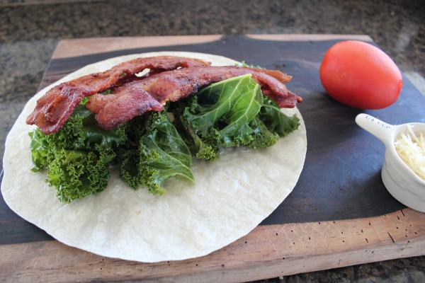 Bacon and Kale Wrap