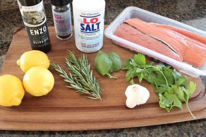 Lemon Herb Salmon Ingredients