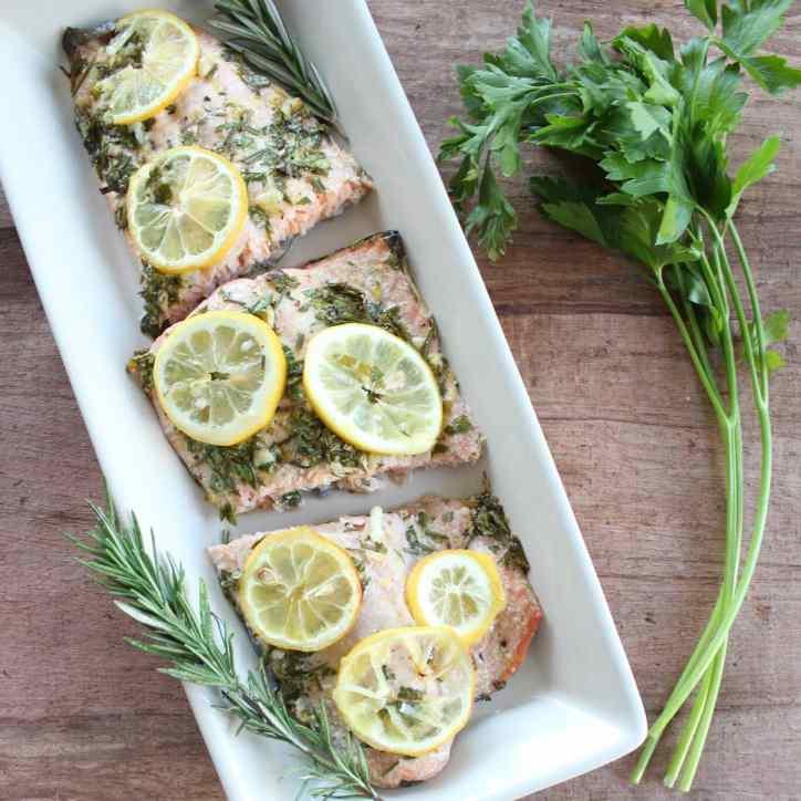 Healthy Lemon Herb Salmon