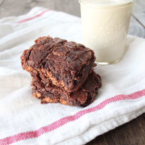 Chocolate Fudge Peanut Butter Chip Brownies