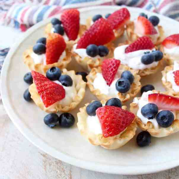 Berry Cream Fillo Baskets