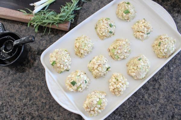 Baked Zucchini Corn Cakes