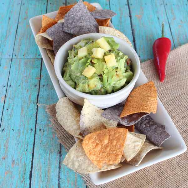 Pineapple Tomatillo Guacamole