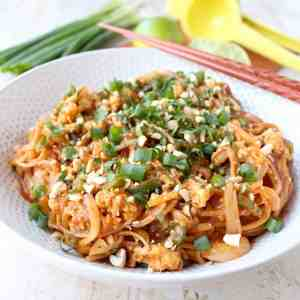 Spicy Vegetable Pad Thai
