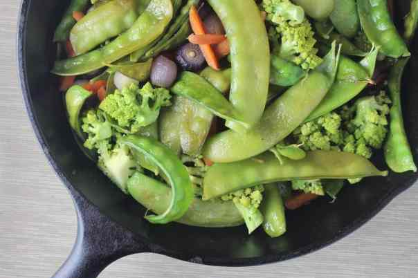 Cast Iron Skillet Winter Vegetables