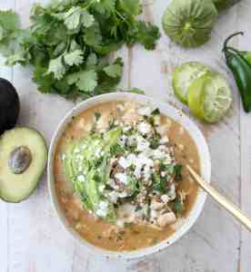 Green Chili Chicken Enchilada Soup
