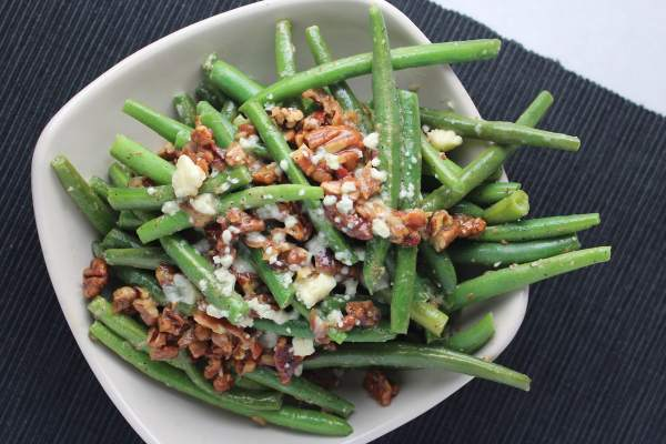 Bacon Pecan Blue Cheese Green Beans