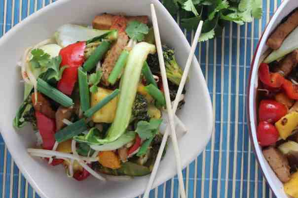 Sweet Chili Pineapple Pork Stir Fry