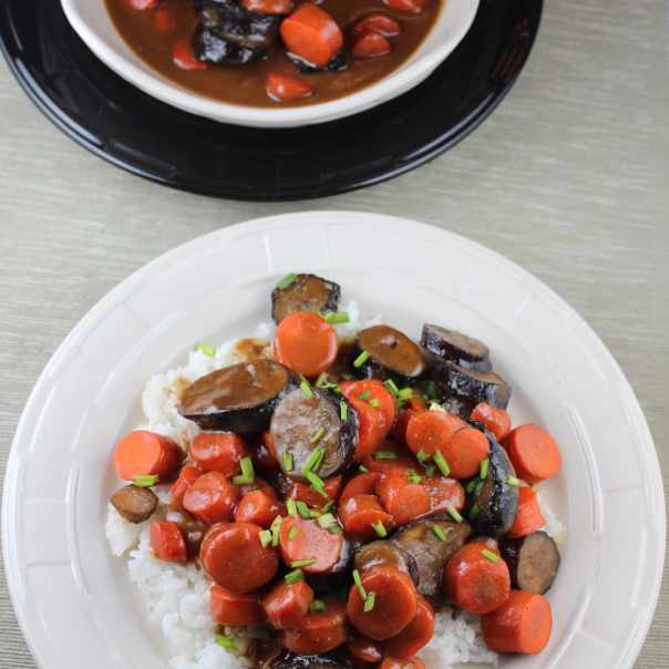 Japanese Sweet Miso Eggplant and Carrots