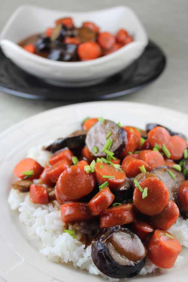 Sweet Miso Eggplant and Carrots