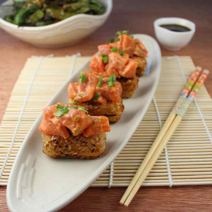 Spicy Tuna Crispy Rice Cake Recipe