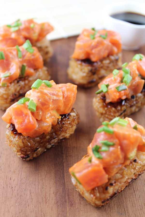 Katsuya Spicy Tuna on Crispy Rice Cakes Recipe