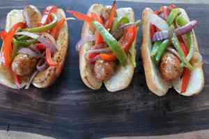 Grilled Italian Sausage and Peppers