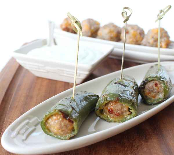 Bratwurst Cheese Stuffed Jalapeños