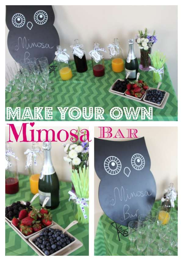 Make Your Own Mimosa Bar