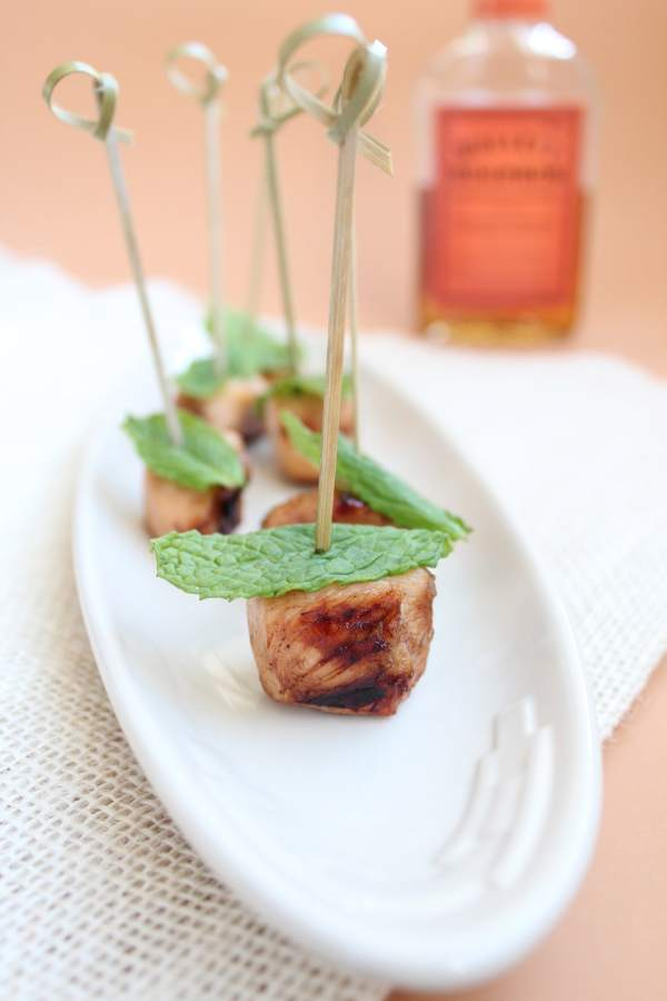 Whiskey Lemon Chicken Skewers