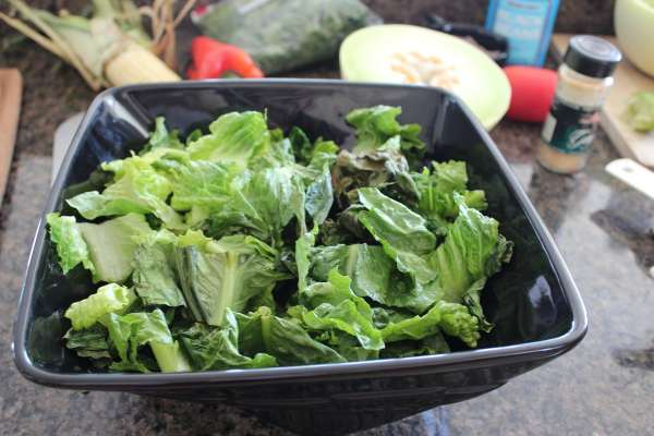Chopped Grilled Romaine Salad