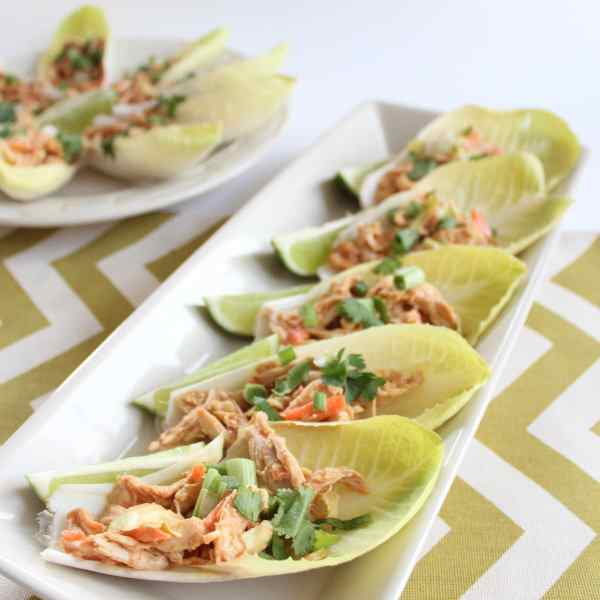 Thai Chicken Salad on Endive Spears