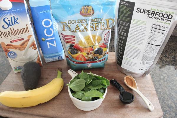 Green Superfood Smoothie Ingredients