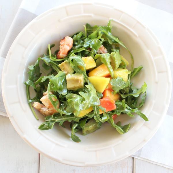 Mango Papaya Arugula Salad