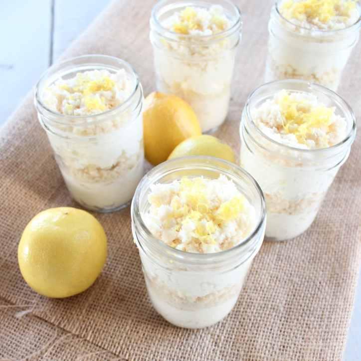 Gluten Free Lemon Dessert Cups