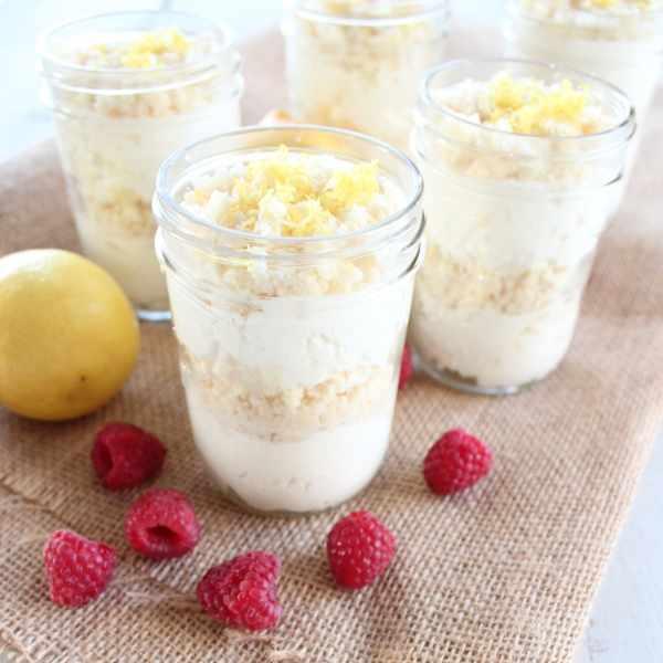 Fresh and Easy Gluten Free Lemon Dessert Cups