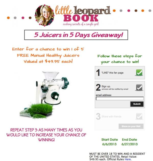 5 Juicers in 5 Days Giveaway
