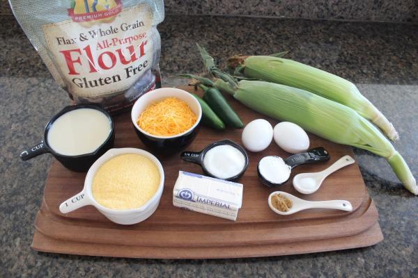 Gluten Free Jalapeno Cheddar Cornbread Ingredients