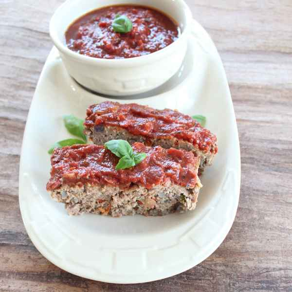 Italian Meatloaf with Homemade Marinara
