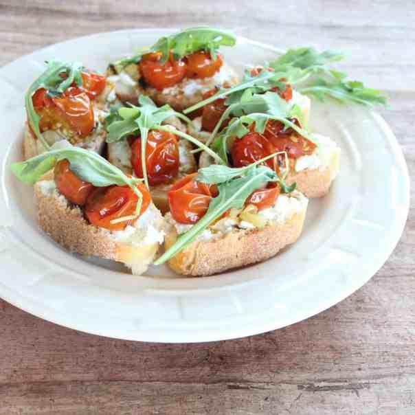 Roasted Tomato Ricotta Bruschetta