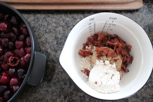 Cherry Bacon Crumble Recipe