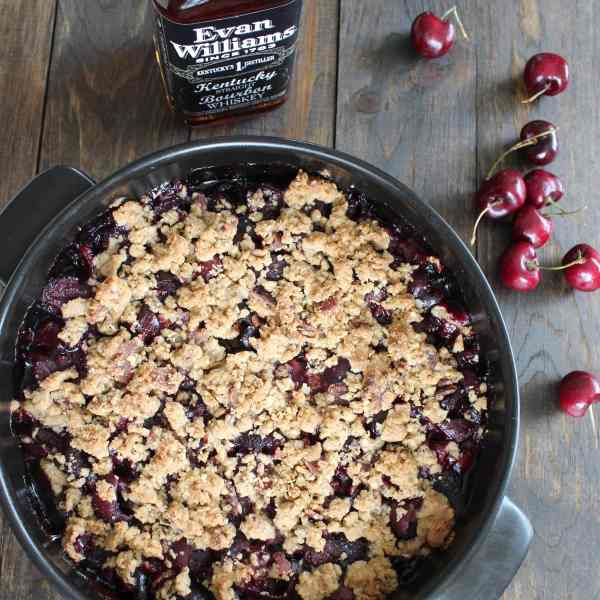 Cherry Bourbon Bacon Crumble