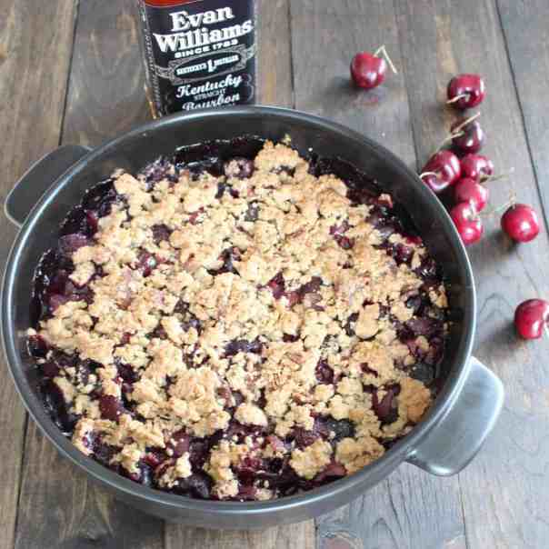 Bourbon Bacon Cherry Crumble