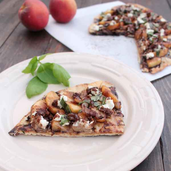 Grilled Peach Flatbread Recipe