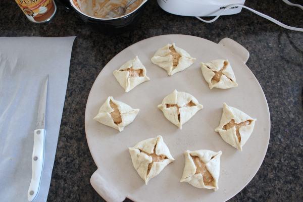 Pumpkin Filled Crescent Roll Pastries