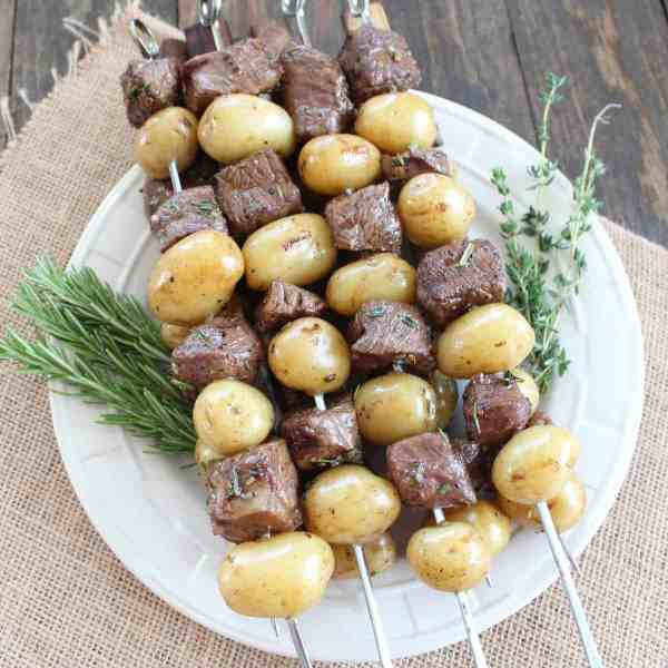 Rosemary Steak and Potato Skewers