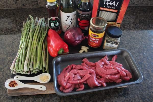 Asparagus Beef Stir Fry Ingredients