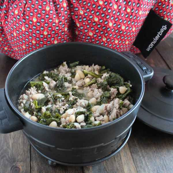 Cooking with Wonderbag Kale Turkey Soup