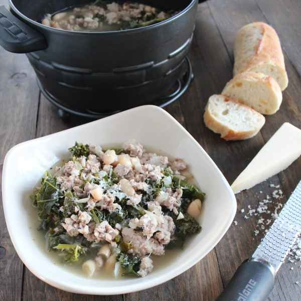 Ground Turkey Kale Soup