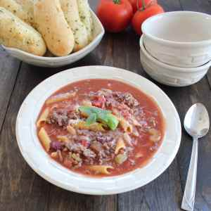Gluten Free Pasta Fagioli Soup