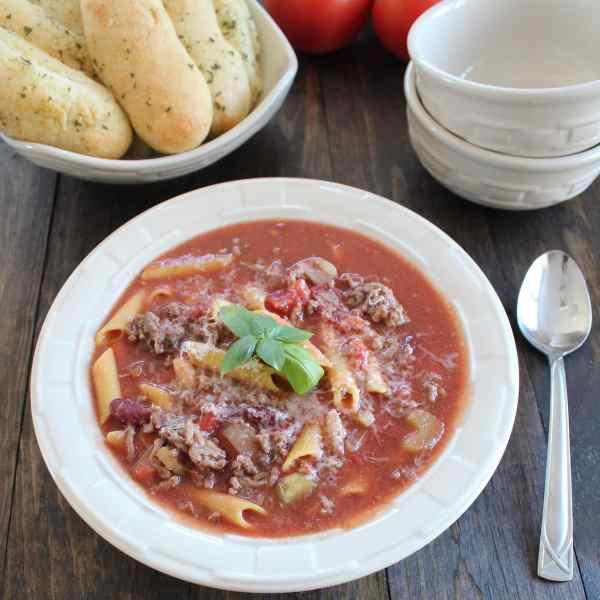 Gluten Free Pasta Fagioli Soup Recipe