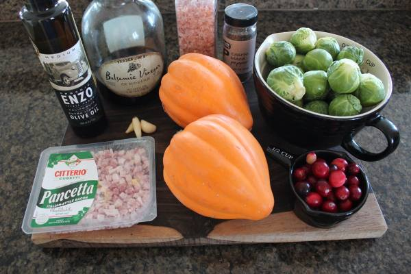 Brussels Sprout Stuffed Acorn Squash Ingredients