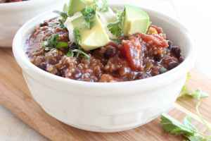 Black Bean Quinoa Taco Soup