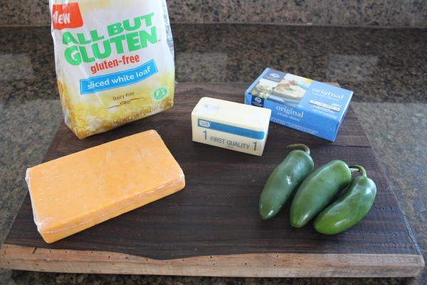 Gluten Free Jalapeño Popper Grilled Cheese Ingredients