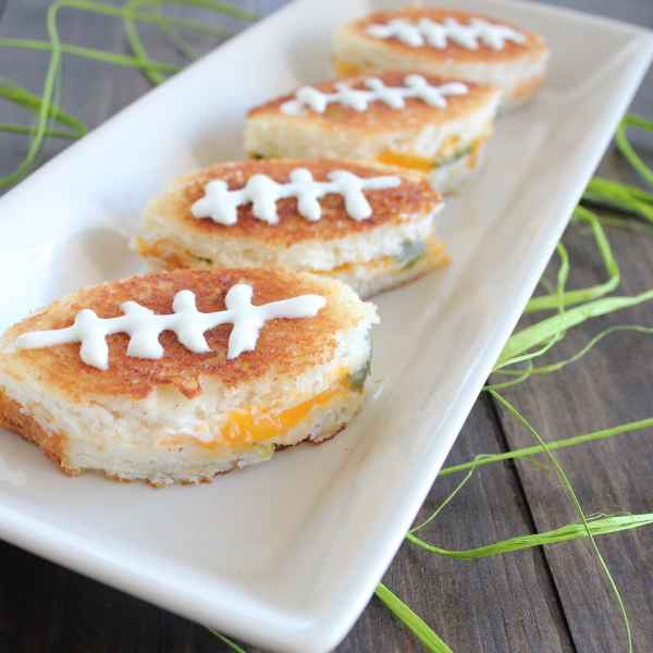 Football Shaped Grilled Cheese