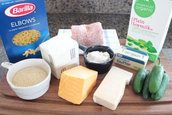 Sausage Jalapeno Macaroni and Cheese Ingredients
