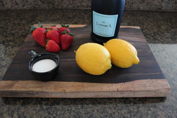 Lemon Berry Prosecco Sangria Ingredients